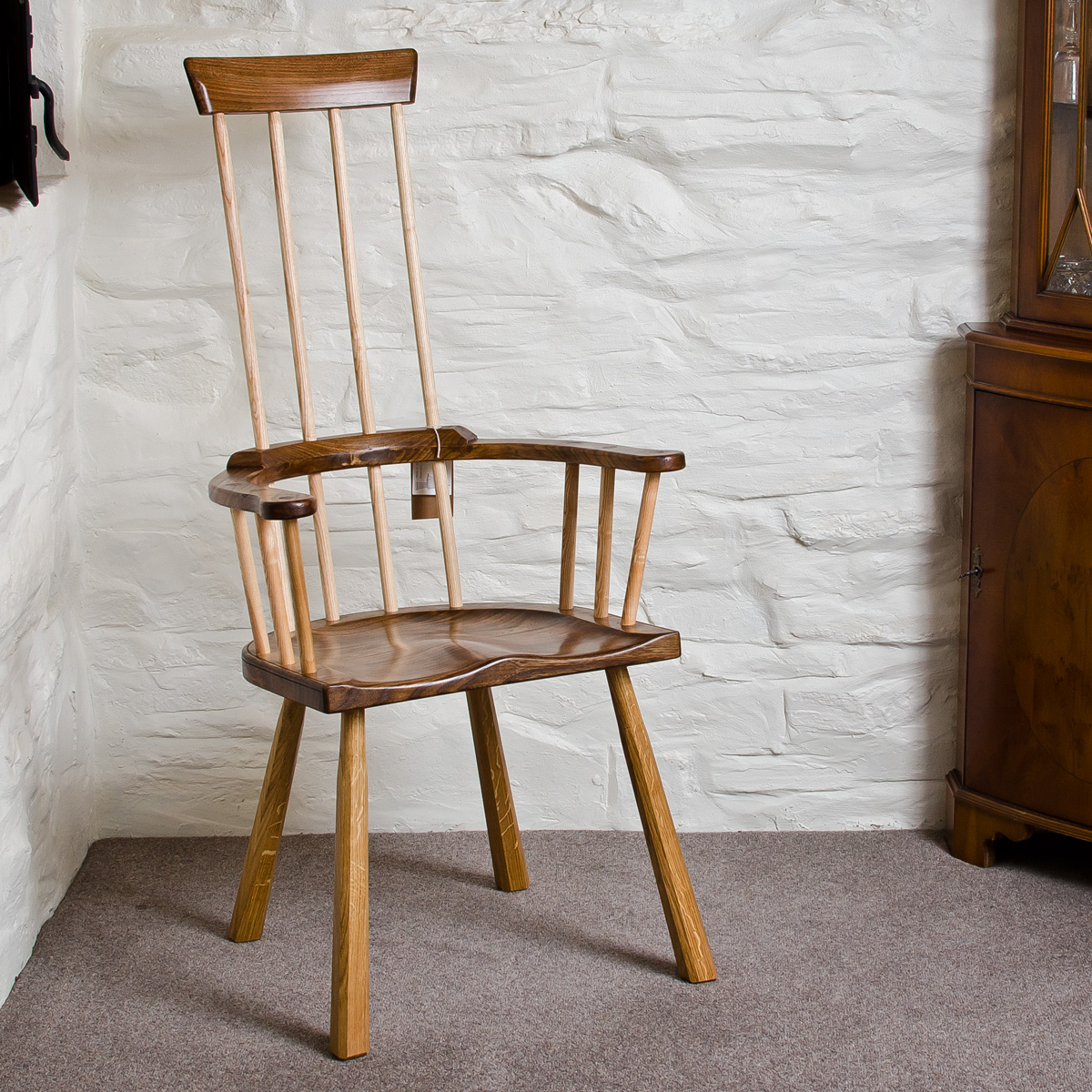 Traditional 4 stick chair for Traditional wooden kitchen chairs