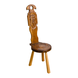 Spinning Chair with 'Green Man' carving
